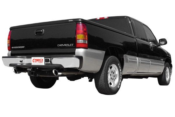 1999-2007 Chevy Silverado 1500 EXT Cab/Short Bed 5.3L V8 Corsa Performance Cat-Back Exhaust System