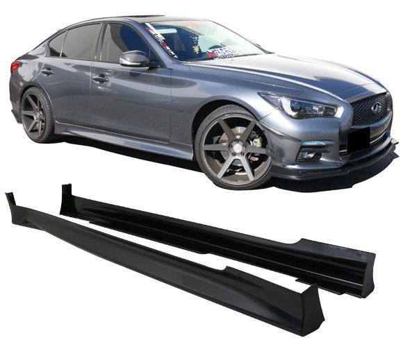 2014-2017 Infiniti Q50 Type-T ABS Side Skirts