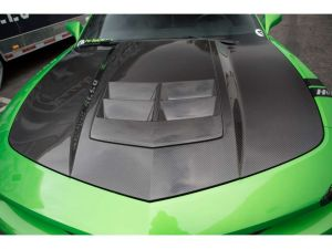 2010-2015 Chevy Camaro A74 Functional Heat Extractor Carbon Fiber Hood - TC30022