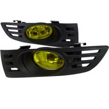 2003-2005 Honda Accord 2DR Coupe Yellow OEM Fog Lights-LF-ACD032AMOEM-RS