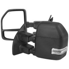 1999-2016 Ford F-250 SuperDuty Black Power + Heated w/Clear Signal Towing Mirrors  - RMX-F25099F1H-P-FS