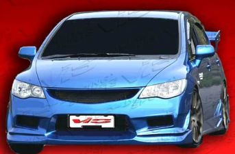 2006-2009 Honda Civic FRP 7pc JDM Type R Ballistix Front Conversion - VIS-06HDCVC4DJBX-098