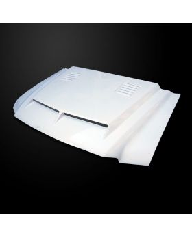 2000-2006 Ford Excursion Amerihood Type-E Dual-Functional Ram Air Fiberglass Hood - AMH-FEXC00AHTEFHW