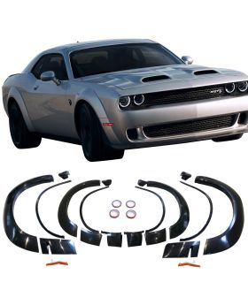 2015-2019 Dodge Challenger HellCat Fender Flares Demon Style Unpainted Polypropylene - BFD-DCHALL15HC-4P