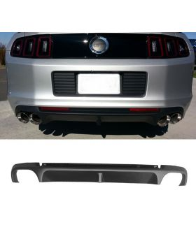 2013-2014 Ford Mustang Shelby Four Vents Rear Lip Bumper Valance Diffuser Polypropylene - BLD-FM13S4-PP