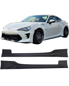 2017-2019 Toyota 86 TRD Style Side Skirts Pair LH RH Polypropylene - BLS-TY8617TRD-PP