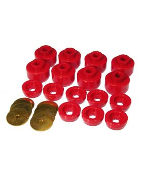 1999-2002 Chevy Silverado 1500 Body And Cab Mount Bushing Kit Red Prothane - 7-141