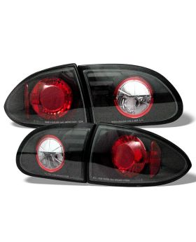 1995-2002 Chevy Cavalier Black Euro Style Tail Lights - 111-CCAV95-BK