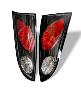 2000-2004 Ford Focus 4DR Black Euro Style Tail Lights - 111-FF00-4D-BK
