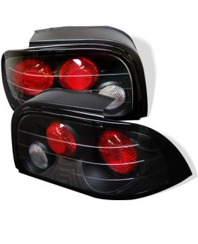1994-1995 Ford Mustang Black Euro Style Tail Lights - 111-FM94-BK