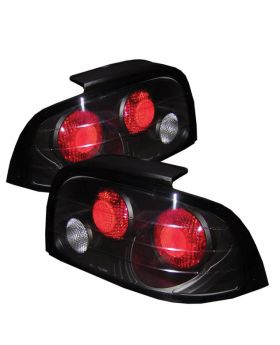 1996-1998 Ford Mustang Black Euro Style Tail Lights - 111-FM96-BK