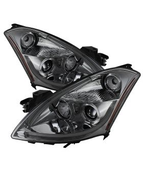 2010-2012 Nissan Altima 4DR DRL Halo Smoke Projector Headlights-PRO-YD-NA104D-LT