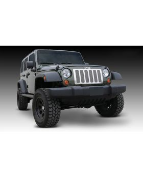 Wrangler Grille 07-17 Jeep Wrangler Stainless Polished 1 Piece Upper Class Series T-REX Grilles - 54482