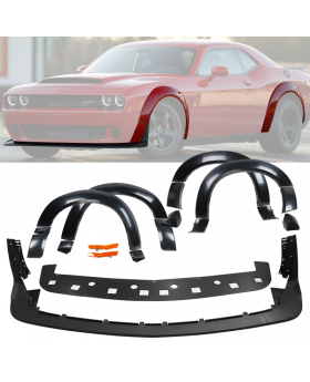 2015-2020 Dodge Challenger HellCat Fender Flares Demon Style Unpainted Polypropylene - BFD-DCHALL15HC-4P