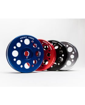 Lightweight Crank Pulley Silver Scion FRS | Subaru BRZ | Toyota GT-86 Agency Power - AP-FRS-130S