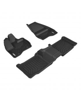 2011-2014 Ford Explorer Aries Black StyleGuard XD Floor Liners XLT/Bench Seat Only - 2807509