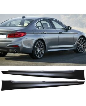 2017-2018 BMW 5-Series M-Tech G30 Side Skirt Extension Pair - 8-SK-G3017MT