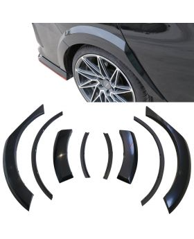 2017-2018 Honda Civic Hatchback Rear Fender Flares Wheel Cover 8 Piece Set - BFD-HC1758P-R-A