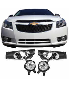 2009-2014 Chevrolet Cruze OE Style Black/Chrome Front Lower Fog Lights Pair - LHF-CCRUZE11OE