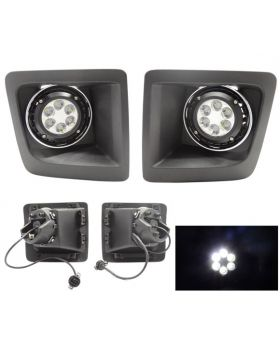 2014-2015 GMC Sierra 1500 OE Cree LED Clear Spotlights & Bulbs Excellent For Off Roading - LHF-GSI14C-LED