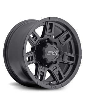 Sidebiter II 22X12 with 8X6.50 Bolt Pattern 4.750 Back Space Satin Black Mickey Thompson - 90000030365