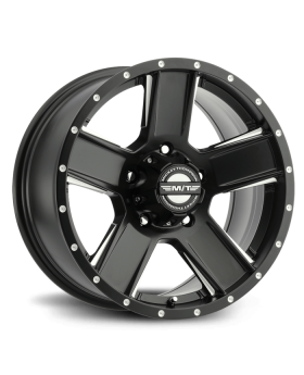 SD-5 Black 15X8 with 5X4.50 Bolt Pattern 3.625 Back Space Matte Black Mickey Thompson - 90000030934