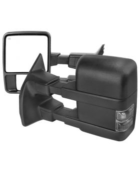 1999-2015 Ford F-250 SuperDuty Black Power + Heated w/Smoke Signal Towing Mirrors  - RMX-F25099G2GH-P-FS