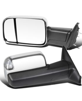 2013-2015 Dodge Ram 1500/2500/3500 Chrome Towing Mirrors  - RMX-RAM13CHP-AT-FS