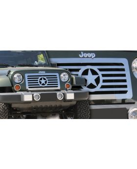 Wrangler Grille 07-17 Jeep Wrangler Stainless Polished T-REX Grilles - 66481