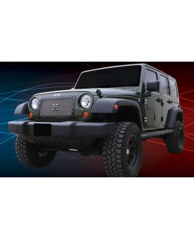 Wrangler Grille 07-17 Jeep Wrangler Stainless Polished 1 Piece X Metal Series T-REX Grilles - 6714830