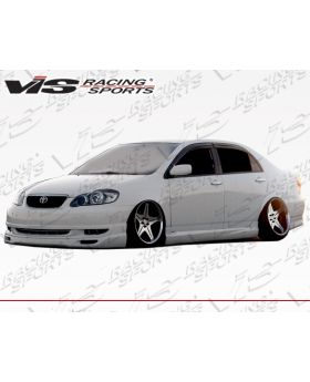 2003-2008 Toyota Corolla 4dr Techno R1 FRP Ground Effects Kit by ViS - VIS-03TYCOR4DTNR1-099