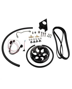 WCFab 2001-2004 LB7 Duramax Twin CP3 Kit with Black Anodized Pulley - WCF100231 - Wehrli Custom Fabrication