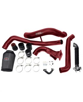 WCFab 2015.5-2016 LML Duramax High Flow Intake Bundle Package 3 Bolt Exhaust Red Two Stage Powder Coating - WCF100641-RED - Wehrli Custom Fabrication