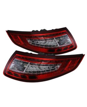 2005-2008 Porsche 911 Red/Clear LED Tail Lights - ALT-ON-P99705-LED-RC